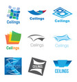 logos of ceilings floors vector image vector image