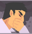 man suffering from fine dust industrial smog vector image