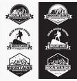 mountains logo badge 5 vector image vector image