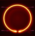 neon frame sign in the shape of a circle vector image