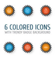 network icons set collection of shop glance vector image vector image