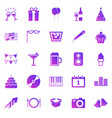 New year gradient icons on white background