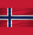 norway flag flag of norway blowig in the wind vector image