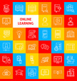 online learning line icons vector image vector image