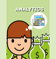 people analytics business vector image