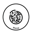 Pizza on plate icon vector image