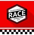 Racing badge 07 vector image vector image