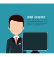 receptionist hotel service isolated icon vector image