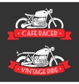 Retro motorcycle logo set vector image