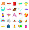 scenery icons set cartoon style vector image vector image