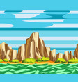 sea cliffs seamless landscape vector image
