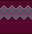 seamless knitted pattern with rhombus vector image