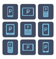 set of icons - mobile devices with rouble symbols vector image vector image