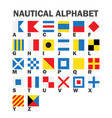 set of maritime signal flags vector image vector image
