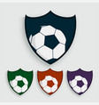 set of soccer or football labels vector image