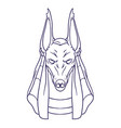 silhouette of anubis the god of death vector image