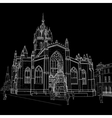 Sketch of St Giles Cathedral vector image vector image