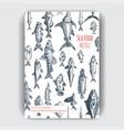 sketch - seafood card menu vector image vector image