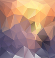 sundown polygon triangular pattern background vector image vector image