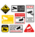 video surveillance symbols security camera icons vector image vector image