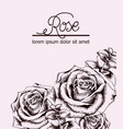 vintage roses card line art boho style posters vector image vector image
