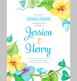 watercolor invitation card vector image vector image