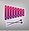 xylophone sign purple gradient icon on vector image vector image