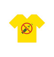 yellow t-shirt no drugs allowed syringe with vector image vector image