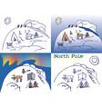 north pole chukchi vector image