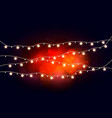 glowing lights for holidays vector image