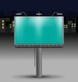 Billboard in the night city vector image