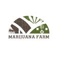 Cannabis farm icon vector image