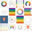 16 templates Infographics cyclic processes vector image vector image