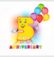 5 anniversary funny digits vector image vector image