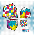 Abstract boxes vector image vector image