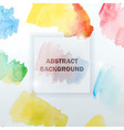 Abstract Watercolor Colorful Background with vector image vector image