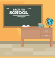 back to school concept classroom cartoon vector image vector image