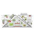 banking concept flat line art vector image