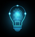 bitcoin with light bulb vector image