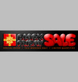 black friday sale advertising banner vector image vector image