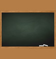 blackboard with two pieces of chalk vector image