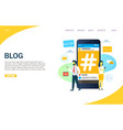 blog website landing page design template vector image vector image