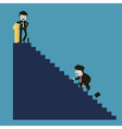 businessman is successful while the competitor vector image vector image