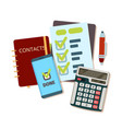 calculator business tools modern stationery vector image vector image