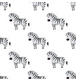 cartoon zebra seamless pattern on white vector image