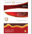 collection of horizontal banners templates vector image