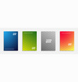 colorful and modern cover design set of geometric vector image vector image