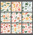 contemporary forms pattern textile fabrics design vector image