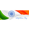 creative indian flag banner design in paper cut vector image