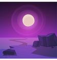Desert Road At Night vector image vector image